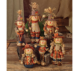 6 PIECE SCARECROW FAMILY