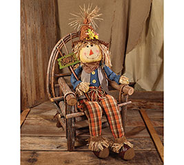 "56"" FALL SCARECROW WITH WELCOME SIGN"