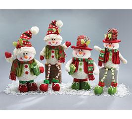 4 PIECE SNOWMAN FAMILY
