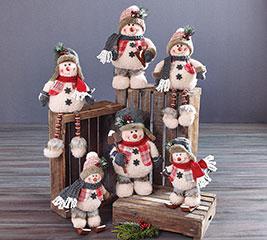 6 PIECE SNOWMAN FAMILY