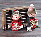 PLUSH SNOWMAN BOY AND GIRL CANDY BAG