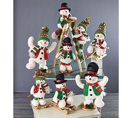 7 PIECE SNOWMAN FAMILY