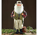 FISHING SANTA FIGURINE