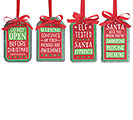 TIN CHRISTMAS GIFT TAG ORNAMENT SET