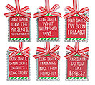 GALVANIZED TIN GIFT TAG ORNAMENT SET