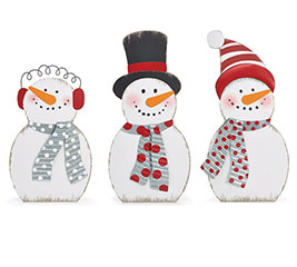 EXTRA LARGE SNOWMAN FAMILY DECOR