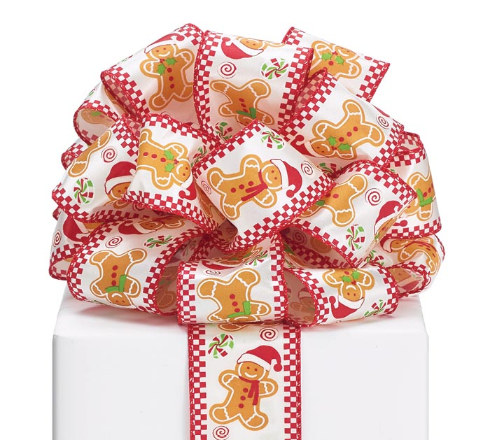 40 GINGERBREAD MAN WIRED RIBBON