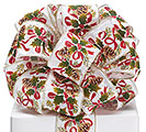 #40 CHRISTMAS GARLAND WIRED RIBBON