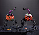 PUMPKIN SPIDER DECOR PAIR
