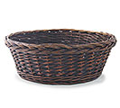 "BASKET WILLOW 18"" ROUND DARK STAIN"