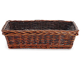 "CASE BASKET 19"" WILLOW RECTANGLE DARK"