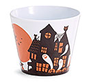 "4"" HAUNTED HOUSE MELAMINE POT COVER"