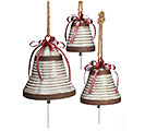 RUSTIC TIN BELL SET WITH BOW ACCENT