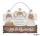 JOY TO THE WORLD ANGEL TRIO WALL HANGING