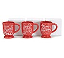 RED CHRISTMAS MESSAGES MUG 1st Alternate Image