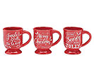 RED CHRISTMAS MESSAGES MUG