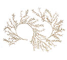 "61"" GLITTERED LEAVES/BEADS GARLAND"