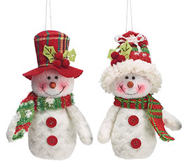 12 PIECE SNOWMAN ORNAMENT SET WITH CRATE