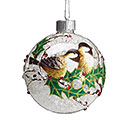 LED BIRDS AND HOLLY BALL ORNAMENT 1st Alternate Image