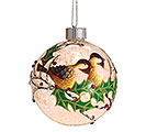 LED BIRDS AND HOLLY BALL ORNAMENT