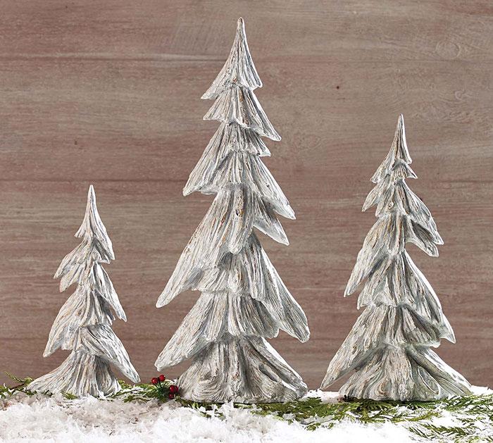 RESIN DRIFTWOOD TREE TRIO