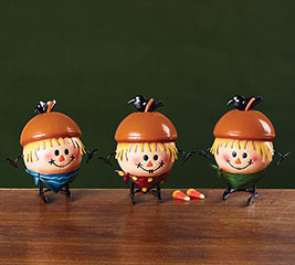 FALL CHARACTERS BOBBLE HEAD FIGURINE SET