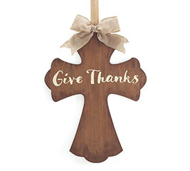 GIVE THANKS CROSS WALL HANGING