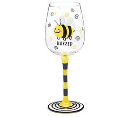 BUZZED BEE WINE GLASS