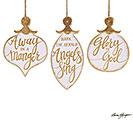 WHITE/GOLD CHRISTMAS ORNAMENT SET