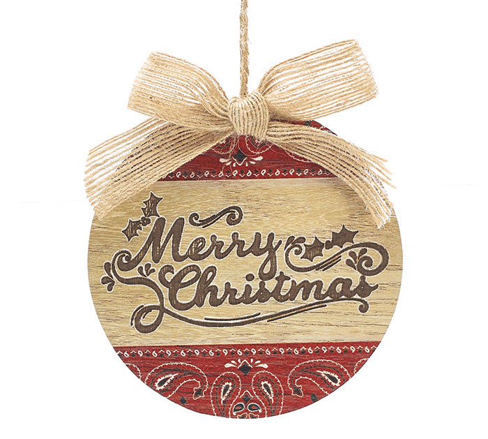 MERRY CHRISTMAS BANDANNA ORNAMENT