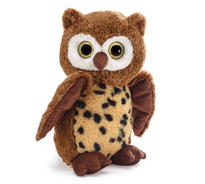 PLUSH SPOTTED BROWN OWL