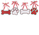 PAW AND BONE ORNAMENT SET