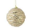 GOLD GLITTER AND BEADED ORNAMENT