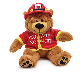 PLUSH YOUR ARE SO HOT FIREMAN BEAR