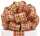 #40 AUTUMN PLAID METALLIC WIRED RIBBON
