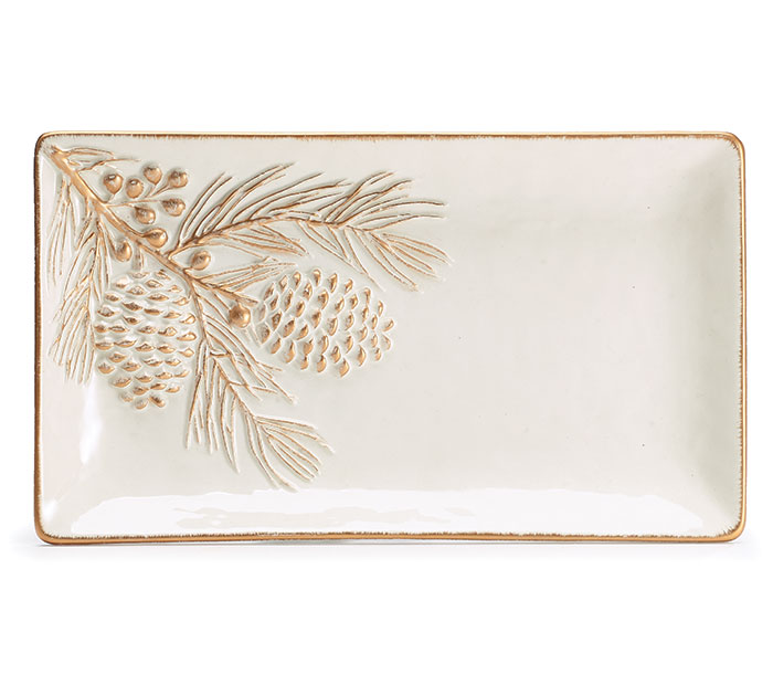 NATURALLY NOEL CERAMIC TRAY