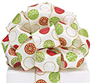 #40 CHRISTMAS DOTS WIRED RIBBON