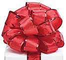 #9 RED SWIRL SATIN WIRED RIBBON