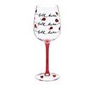 LADYBUG FILL LINE WINE GLASS 1st Alternate Image