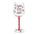LADYBUG FILL LINE WINE GLASS