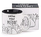 COFFEE RIGHT MEOW CERAMIC MUG W/BOX