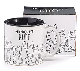 MORNINGS ARE RUFF CERAMIC MUG