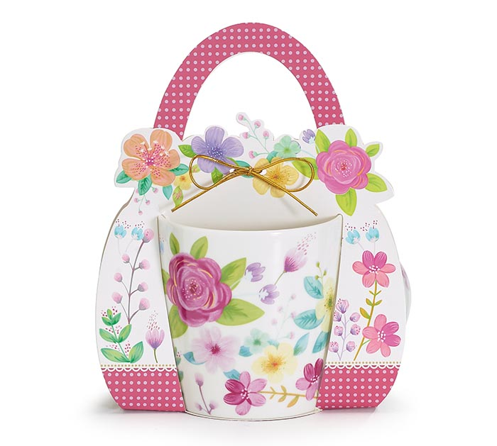 PINK ROSE BOUQUET MUG W/ GIFT CADDY