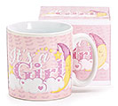 IT'S A GIRL CERAMIC MUG W/ BOX
