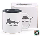 ONE COOL CAT CERAMIC MUG W/ BOX