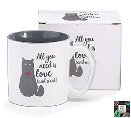 ALL YOU NEED IS LOVE/CAT CERAMIC MUG
