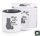 ALL YOU NEED IS LOVE/CAT CERAMIC MUG