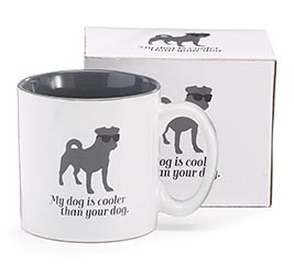 MY DOG IS COOLER CERAMIC MUG W/ BOX