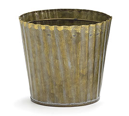 "4"" CRIMPED GALVANIZED TIN POT COVER"