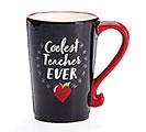 COOLEST TEACHER EVER CERAMIC MUG W/BOX